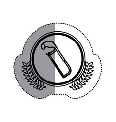 Contour symbol hacksaw icon stock vector