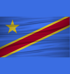 democratic republic of congo flag flag of vector image