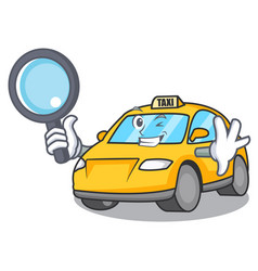 Detective taxi character cartoon style vector