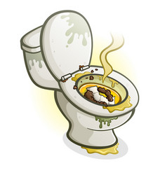 Dirty toilet cartoon vector