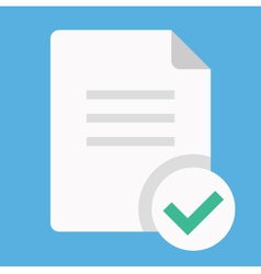 Document and Check Mark Icon vector