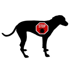 Dog stop sign for ticks vector image