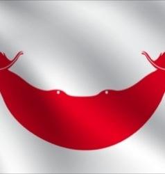 Easter island rapa nui flag vector