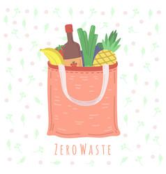 eco food bag grocery shop package zero waste vector image