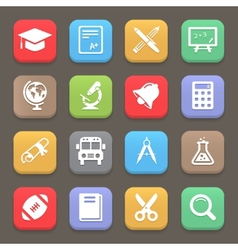 Education icons for web or mobile vector image
