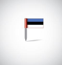estonia flag pin vector image