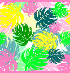 Exotic seamless tropical pattern vector