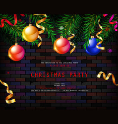 festive christmas and new year 2020 party flyer vector image
