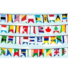 flags on strings vector image