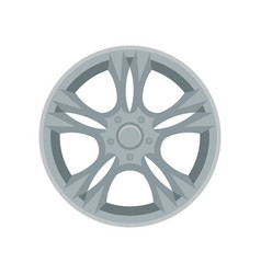 flat icon of alloy wheel gray car disk vector image