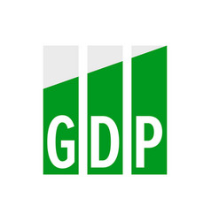 Gdp economic growth icon gross domestic product vector