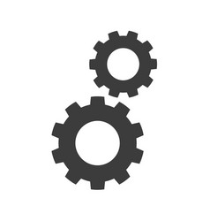 gears flat icons on white background vector image