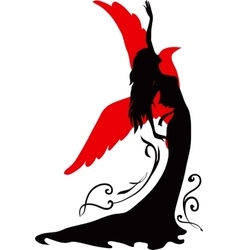 Graphic silhouette of a dancer woman vector image