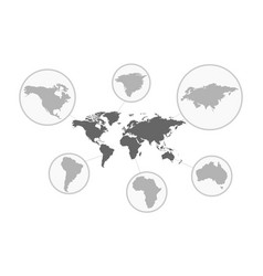 Gray earth map world map wold map vector