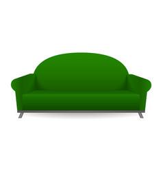 green sofa mockup realistic style vector image