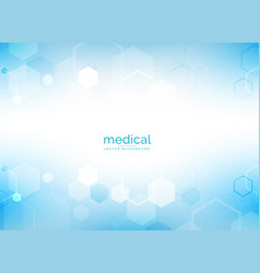 Healthcare and medical background with hexagonal vector