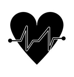 heart beat pulse cardiac medical pictogram vector image