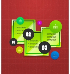 Infographics geometrical steps option banner vector