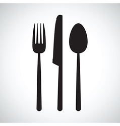 Kitchen knife and fork set vector
