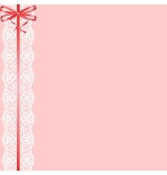 Lace ribbon and bow vector