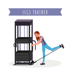 legs training apparatus flat vector image