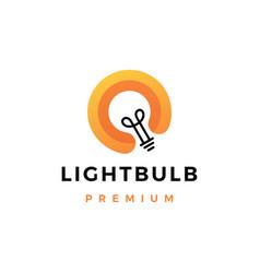 light bulb smart idea logo icon vector image
