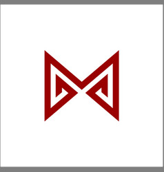 m letter logo abstract vector image