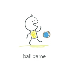 Man plays with the ball vector