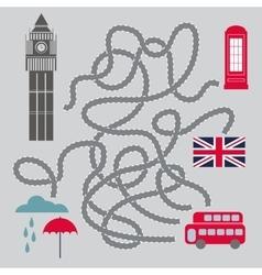 Maze With London Symbols vector image