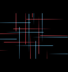 Moving abstract neon lines in space abstract blue vector