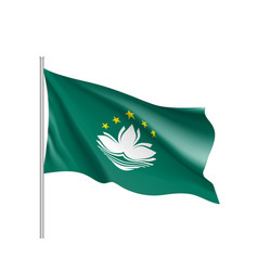National flag of macau vector