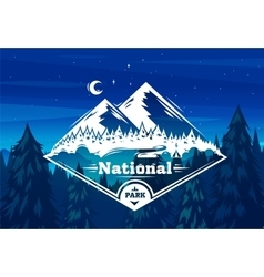 national park typography design vector image