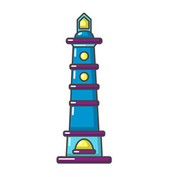Navigate tower icon cartoon style vector