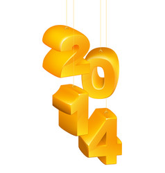 new year or christmas 2014 ornaments vector image