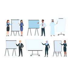 People and presentation boards executives vector