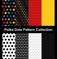 Polka dots pattern collection vector