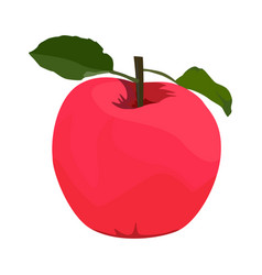 Red apple flat style design isolated vector