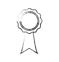 rosette certificate quality premium ribbon icon vector image