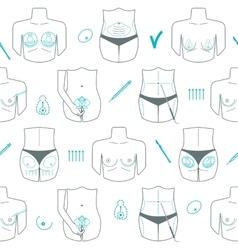 Seamless pattern of body plastic surgery Flat vector image