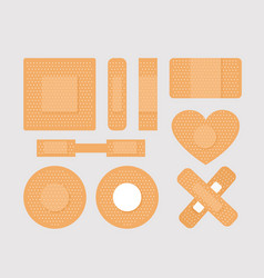set of first aid band plaster vector image