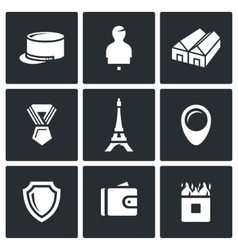 Set of French Legion Icons Kepi Target vector image