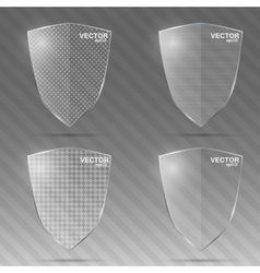 Set of glass shields vector image
