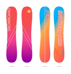 snowboarding board flat vector image
