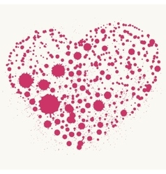 Splatter heart vector image