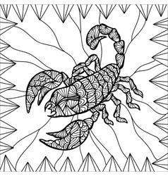 Stylized Scorpion vector image