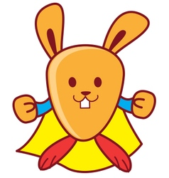 Super Rabbit vector image