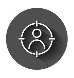 Target audience icon in flat style marketing vector