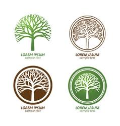 tree logo5 vector image