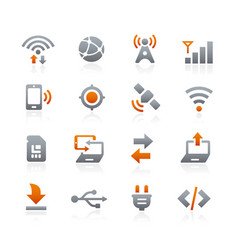 Web and mobile icons 6 - graphite series vector