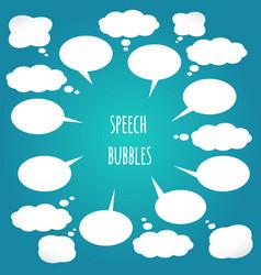white speech bubbles set design elements vector image